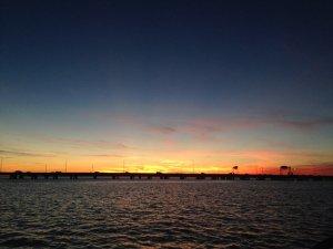 Sunset at Mill Creek near Hampton, Va.