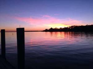 Sunset on Whittaker Creek.