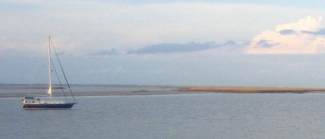 Anchored outside of Cumberland Island.