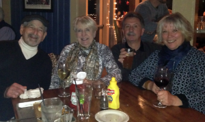 Celebrating New Years Eve at the Falcon's Nest with Gus & Joan and the Davis Turner Band.
